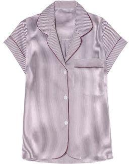 Verbier Striped Swiss Cotton Pajama Top