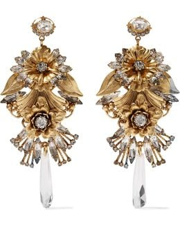 Ingrid Gold-tone Crystal Earrings