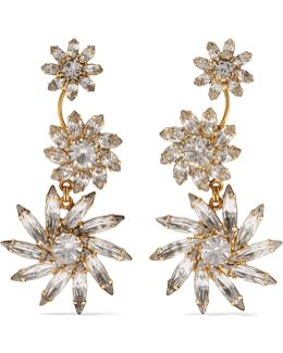 Daysi Gold-tone Crystal Earrings