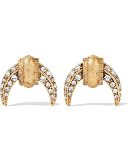Luna Gold-tone Crystal Earrings