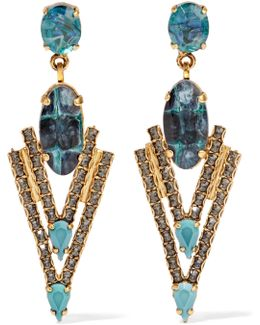 Constance Gold-tone, Stone And Crystal Earrings
