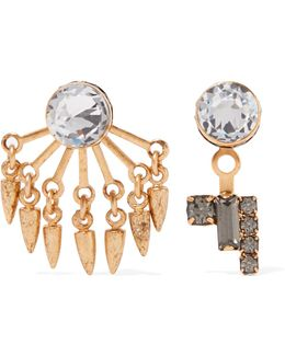 Joslyn Gold-tone Crystal Earrings