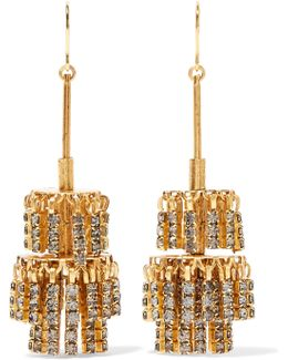 Jayne Gold-tone Crystal Earrings