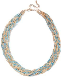 Gold-tone And Cord Necklace