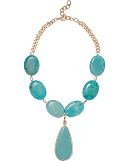 Gold-tone Turquoise Necklace