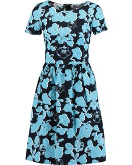 Floral-print Short-sleeve Dress