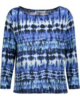 Amelia Tie-dyed Stretch-modal Top