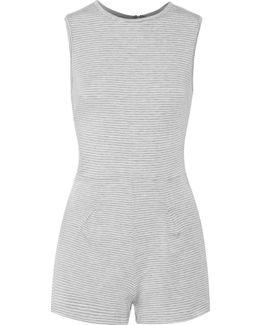 Pico Striped Stretch-jersey Playsuit