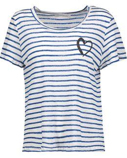 Sabine Striped Stretch-modal T-shirt