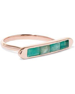 Baja Precious 18-karat Gold Vermeil Emerald Ring