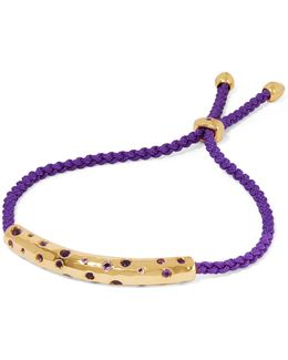 Esencia Cord And Gold-tone Friendship Bracelet