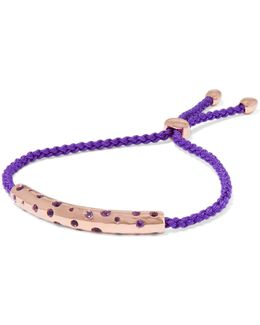 Esencia Cord And Rose Gold-tone Friendship Bracelet