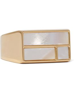 Bianca Gold-plated Mother-of-pearl Ring