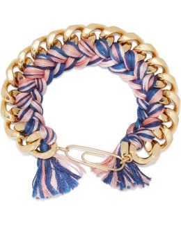 Gold-plated Braided Cotton Bracelet