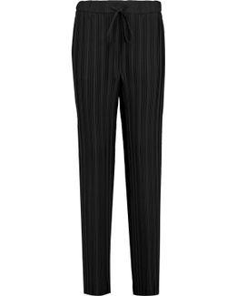 Tralpin Plissé-crepe Wide-leg Pants