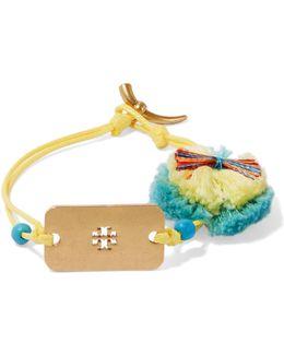 Embellished Gold-tone Cord Bracelet