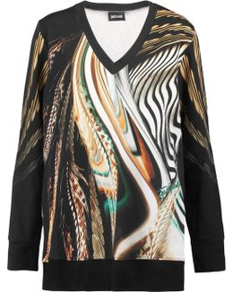 Printed Cotton-blend Jersey Top