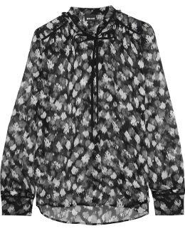 Printed Silk-chiffon Blouse