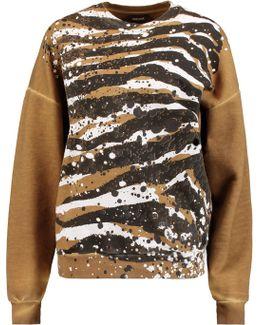 Coated Cotton-jersey Sweatshirt