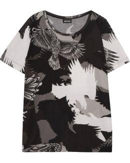 Printed Stretch-jersey T-shirt