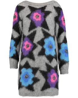 Metallic Intarsia-knit Mini Dress