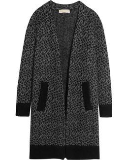 Leopard Jacquard-knit Cardigan