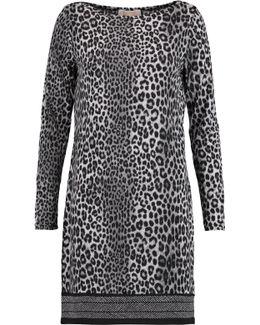 Leopard-print Stretch-jersey Mini Dress