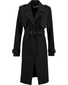 Stretch-crepe Trench Coat