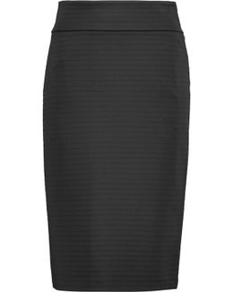 Ribbed Stretch-jersey Skirt