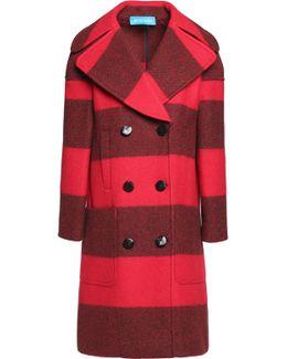 Richards Striped Wool-blend Coat