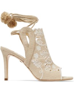 Fox Glove Broderie Anglaise Canvas Sandals