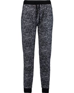 Printed Stretch-cotton Tapered Pants