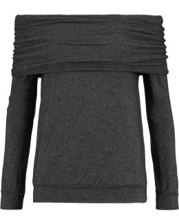 Off-the-shoulder Stretch-jersey Top