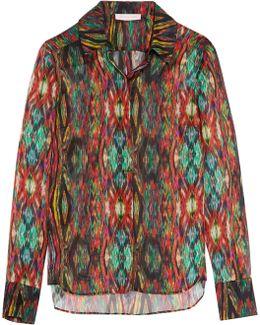 Sweetie Ragadang Printed Silk-chiffon Shirt
