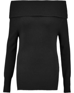 Turtleneck Ribbed Cashmere And Wool-blend Sweater
