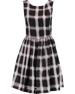 Printed Cotton And Silk-blend Mini Dress