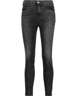 Alana High-rise Cropped Faded Skinny Jeans