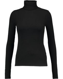 Cotton-jersey Turtleneck Sweater