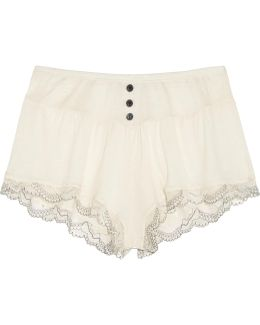 Joey Lace-trimmed Jersey Pajama Shorts