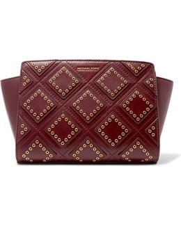 Selma Eyelet-embellished Leather Shoulder Bag