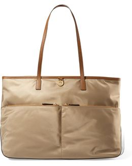 Kempton Leather-trimmed Shell Tote
