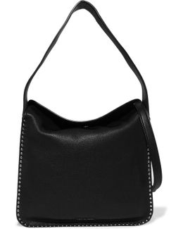 Astor Studded Textured-leather Shoulder Bag