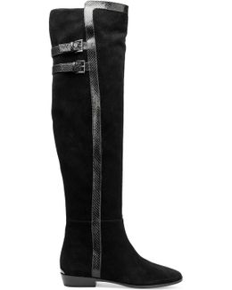 Delaney Suede Knee-high Boots