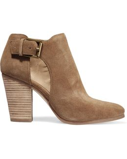 Adams Cutout Suede Ankle Boots