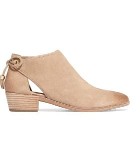 Jennings Cutout Suede Ankle Boots