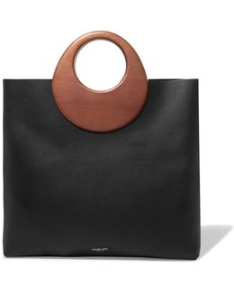 Summerset Leather And Wood Tote