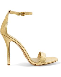 Jacqueline Metallic Elaphe Sandals