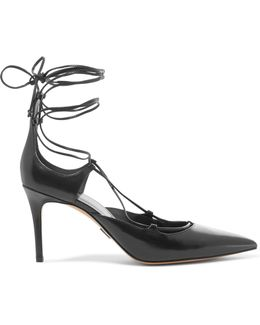 Gabby Lace-up Leather Pumps