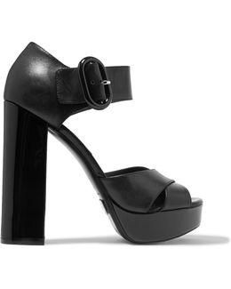 Nellie Leather Platform Sandals