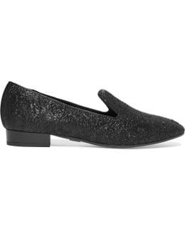 Roxanne Metallic Brocade Loafers
